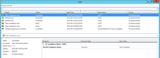 VMM Compliance Error - Scan Completed