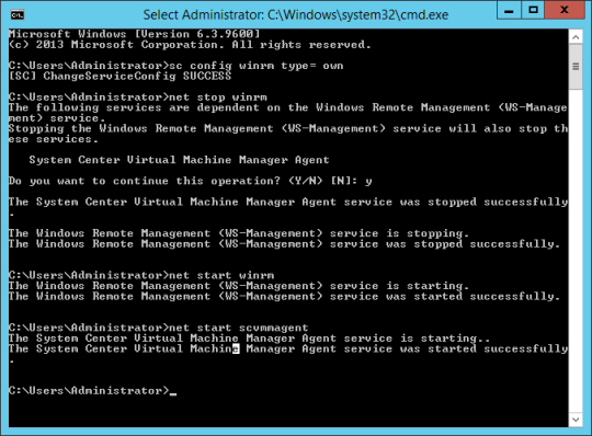 VMM Compliance Error - WinRM Config and Restart