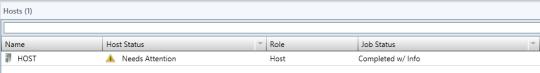 VMM Primeter Host - 01 - Host Status