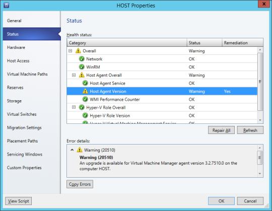 VMM Primeter Host - 02 - Host Properties