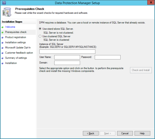 SCDPM vNext - 08 - Prerequisites Check