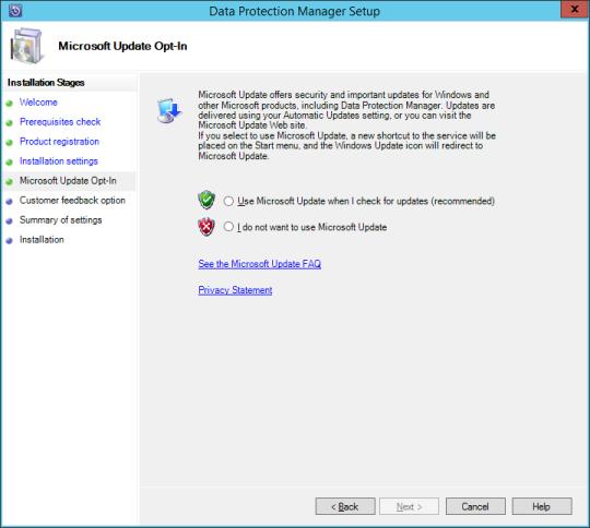 SCDPM vNext - 12 - Microsoft Update