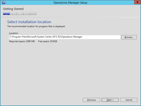 SCOM vNext - 08 - Install Location