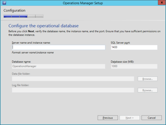 SCOM vNext - 12 - Operational Database
