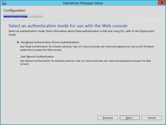 SCOM vNext - 16 - Authentication Mode