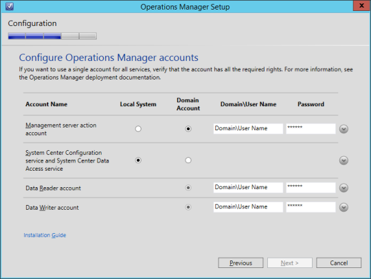SCOM vNext - 17 - Accounts