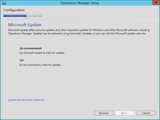 SCOM vNext - 19 - Microsoft Update