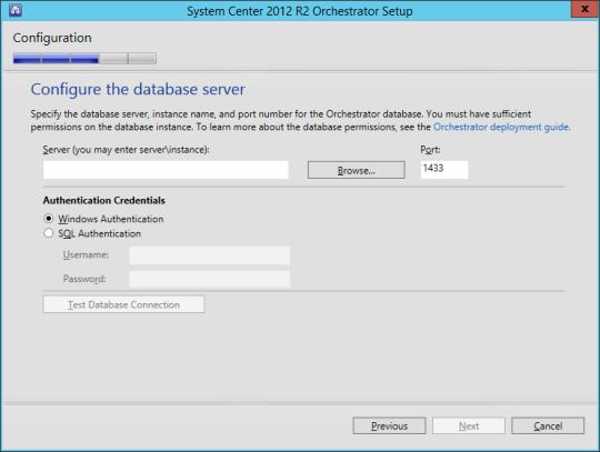 SCORCH vNext - 10 - Database Server
