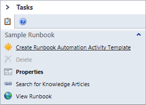 SCSM - Create Runbook Automation Activity Template