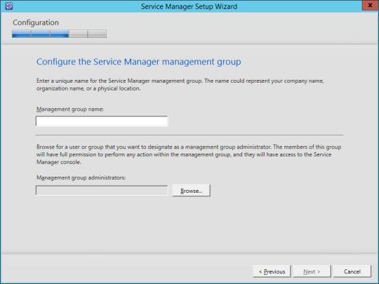 SCSM vNext - 11 - Management Group