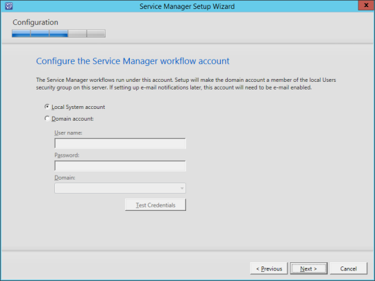 SCSM vNext - 13 - Workflow Account