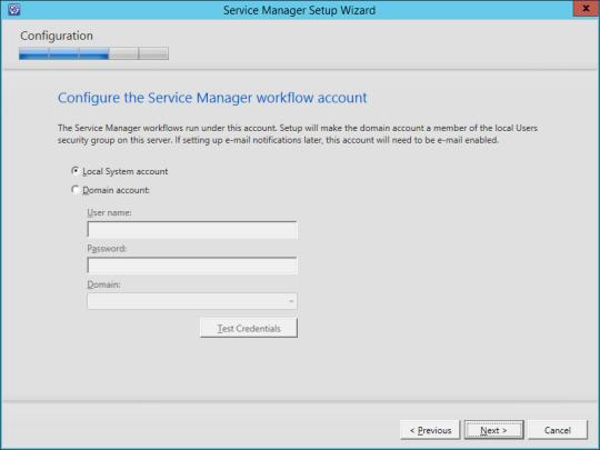 SCSM vNext - 13 - Workflow Account