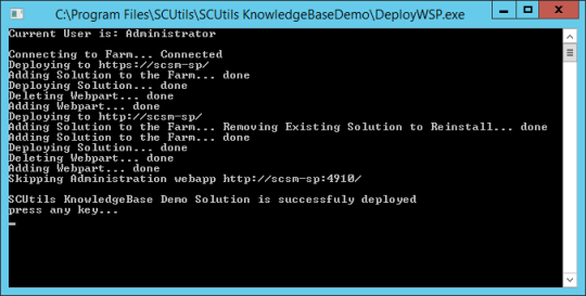 SCUtils KB - 06 - WebPart Deployed