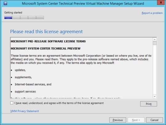 SCVMM vNext - 08 - License Agreement
