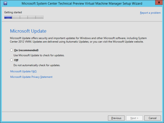 SCVMM vNext - 10 - Microsoft Update