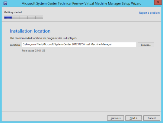 SCVMM vNext - 11 - Installation Location