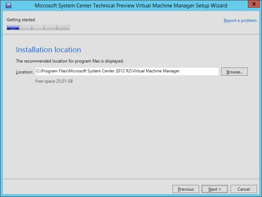 SCVMM vNext - 11 - Installation Location