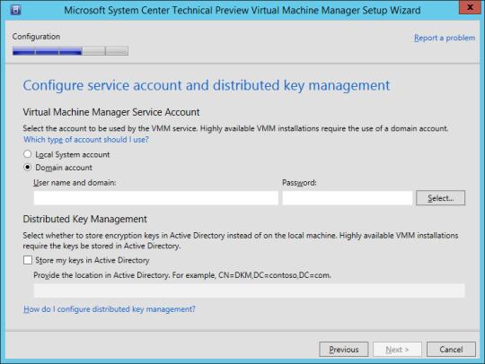 SCVMM vNext - 14 - Server Account