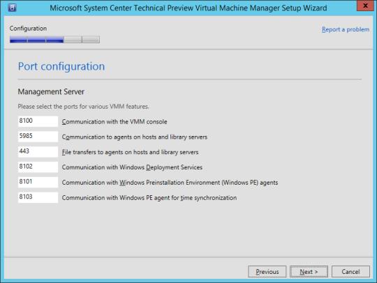 SCVMM vNext - 15 - Port Configuration