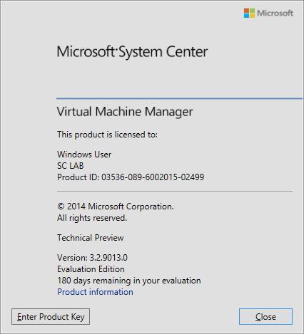 SCVMM vNext - 20 - About