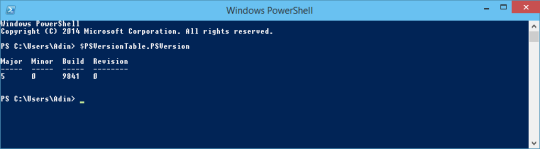 Win10 - PowerShell