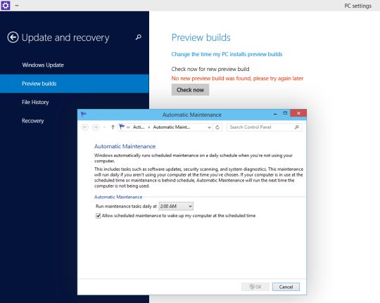 Win10 - Update And Recovery - Preview Builds