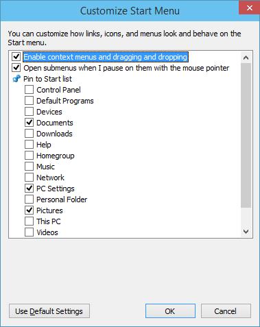 Windows 10 Customize Start Menu