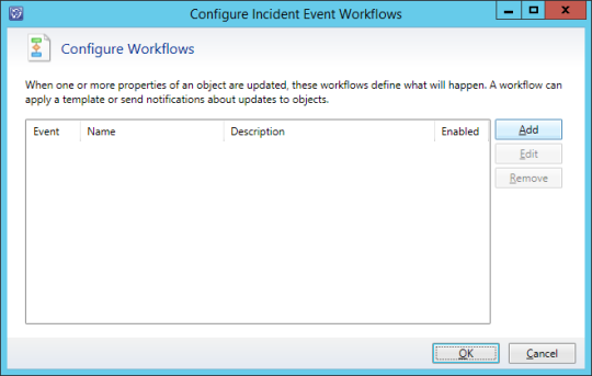 Configure Incidents Event Workflows