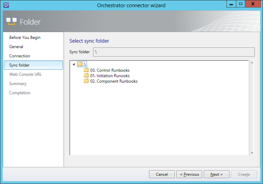 Orcehstrator Connector Wizard - Sync Folder