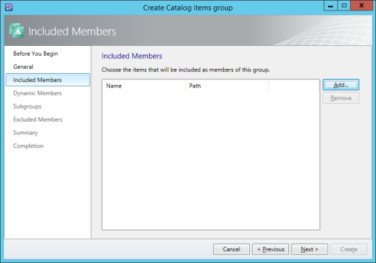 SCSM New Service Offering - Create Catalog Items Group