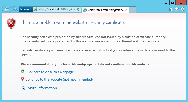 WAP Install - 06 - IE Cert Warning