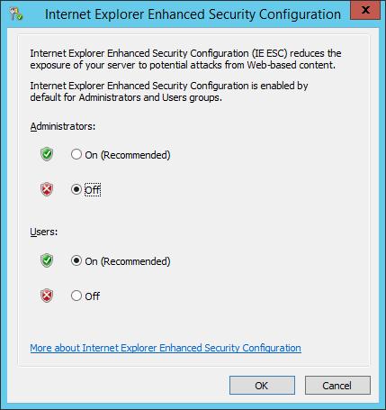 WAP Install - IE ESC
