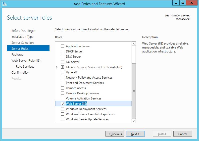 WAP Install - IIS Role - 04 - Server Roles