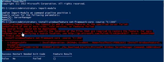 Install Error Results